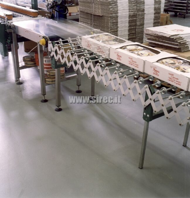 Epoxy resin floor - bakery products packaging