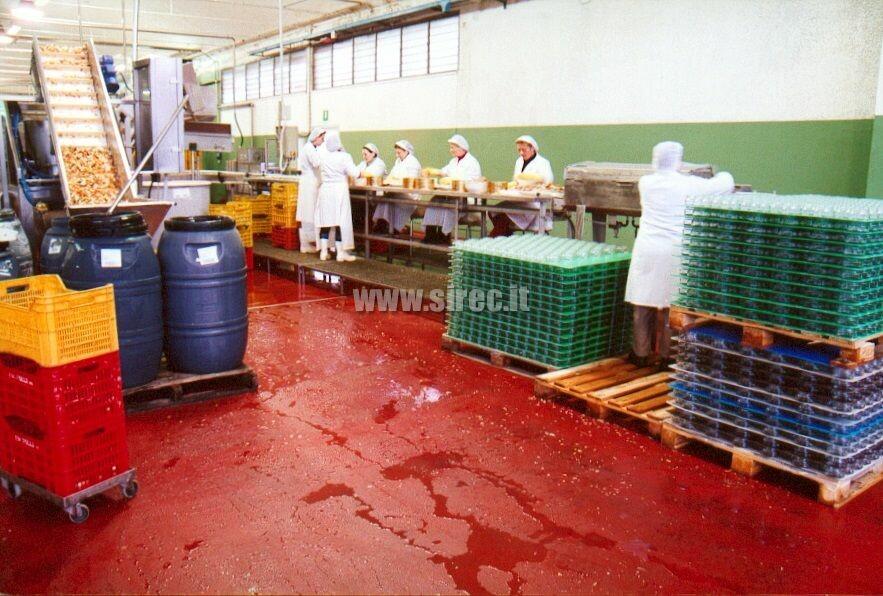 Massetto in resina resistente ai frequenti lavaggi » Pavimenti in resina per l'industria conserviera