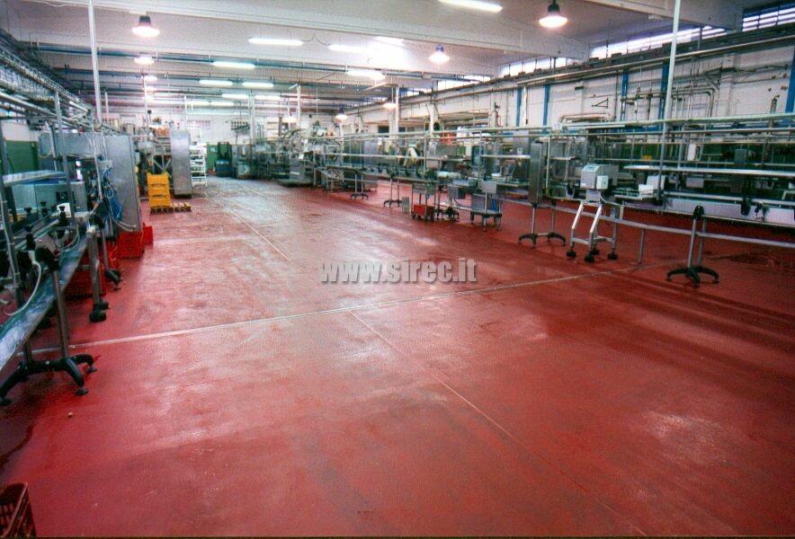 Pavimento industriale in resina di facile pulizia » Pavimenti in resina per l'industria conserviera