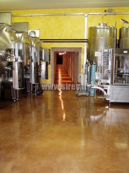 Pavimentazione per cantina » Pavimento in resina per cantine vinicole