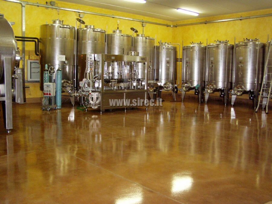 Pavimento cantina vinicola
