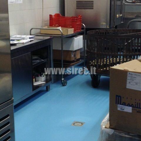 Pavimento in resina EPOXIBETON su pavimento in gres » Pavimento in resina per industria conserviera