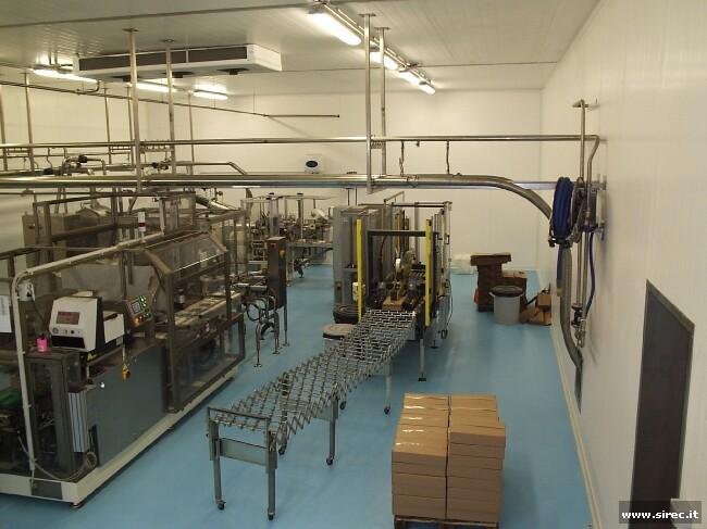 Pavimenti industriale in resina epossidica confezionamemento formaggio