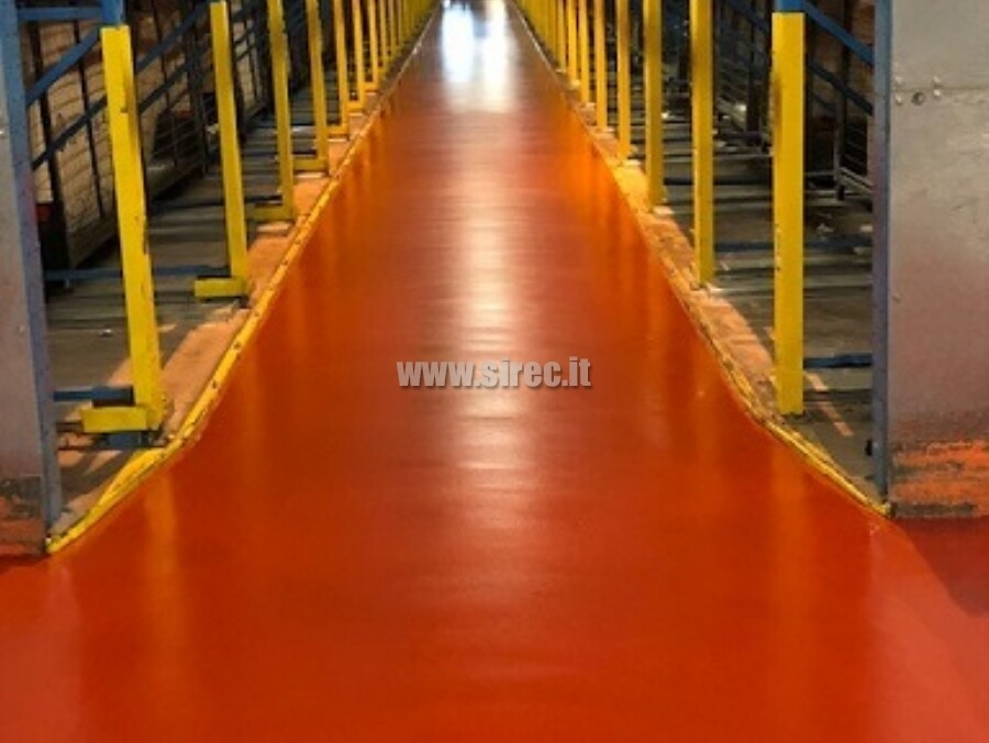 EPOXIBETON floor in according with DIN 15185