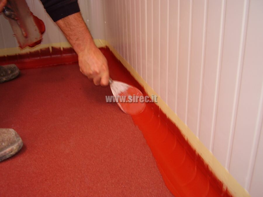 Insulated panels elastic epoxy resine base board