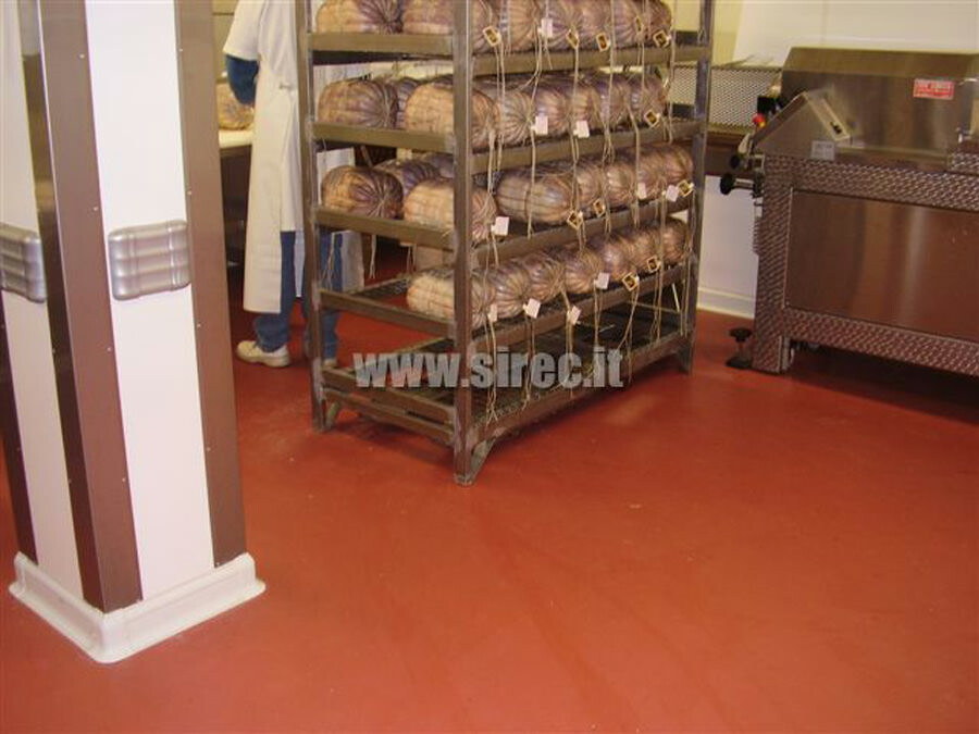 Massetto in resina  stagionatura salumi