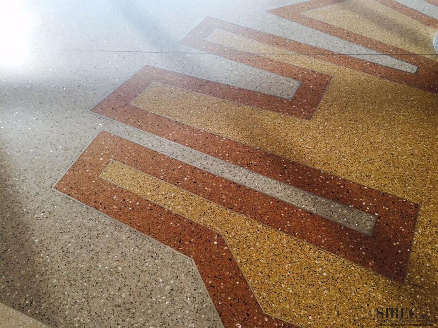 Pavimento in resina per centro commerciale