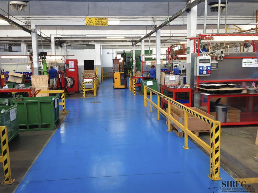 Pavimento per industria metalmeccanica